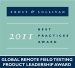"""2011 Product Leadership Award for Remote Field Testing"" award by Frost & Sullivan"